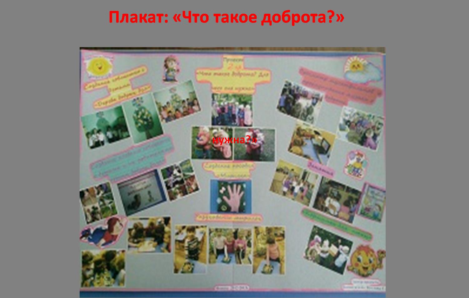 Плакат своими руками для детского сада